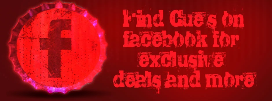 FInd Cue's Billiards, Bar and Restaurant on Facebook