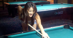 Girl At Cues Billiards