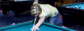 Pool at Cue's Billiards